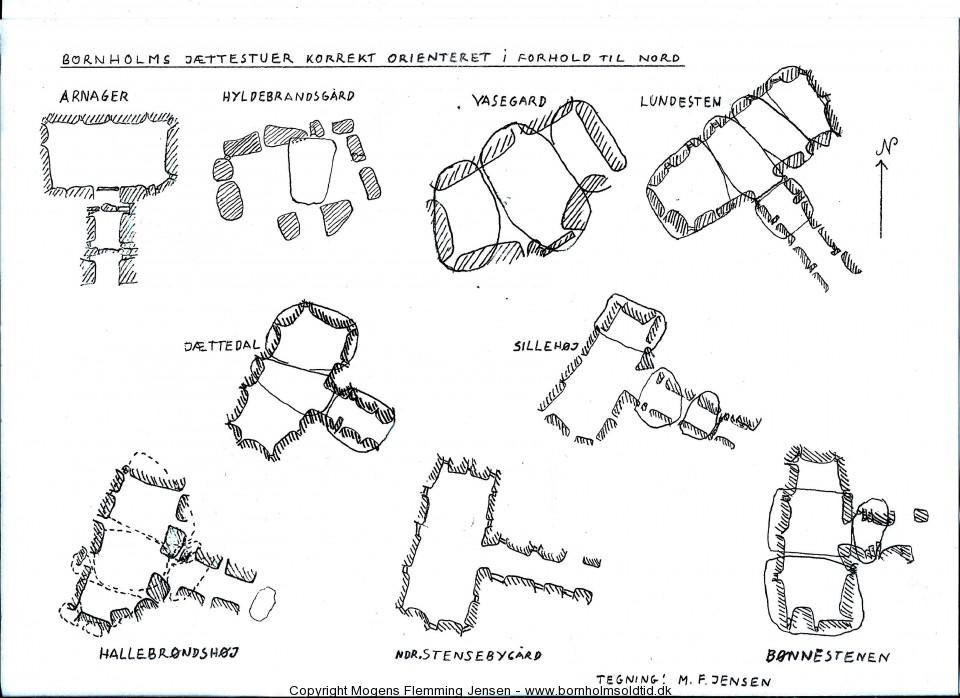 jættestuerne - Bornholm - tegning-M.F.Jensen