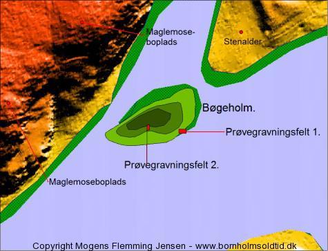bøgeholm m. udgravningsfelter