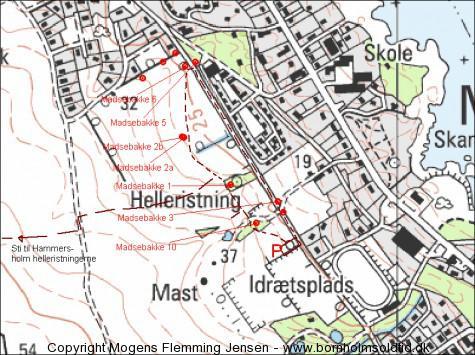 kort over Madsebakke