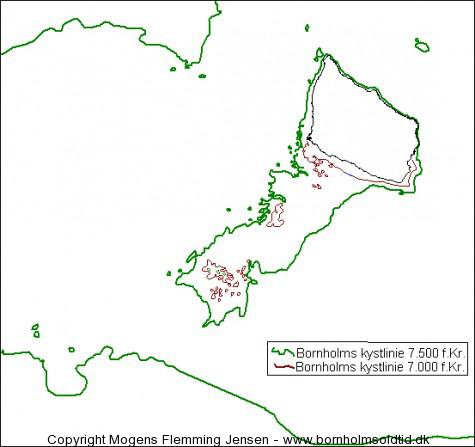 Bornholms kystlinie 7.500-7.000 f.Kr. bornholmsoldtid.dk