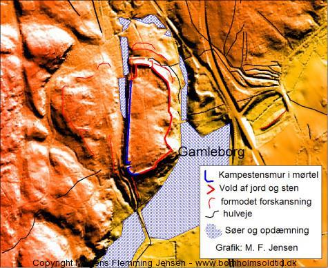 Gamleborg.. bornholmsoldtid.dk DHM-2007-Terræn(1,6 GRID)